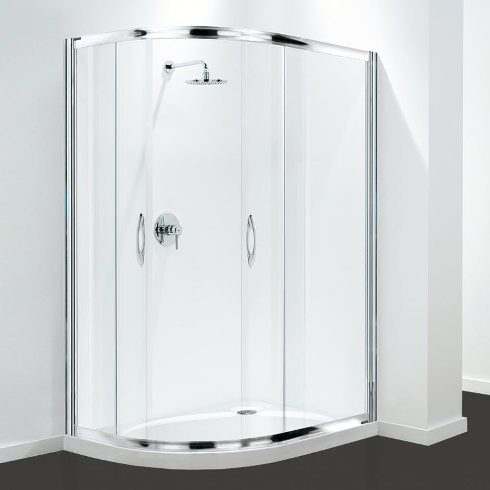 Coram Premier Offset Quadrant Shower Enclosure - Various Size Options Large Image