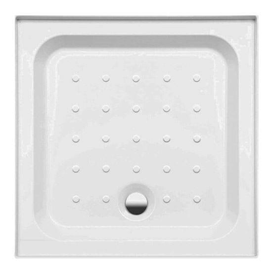 Coram - Universal Square Shower Tray with Upstands & Waste - 3 Size Options Large Image