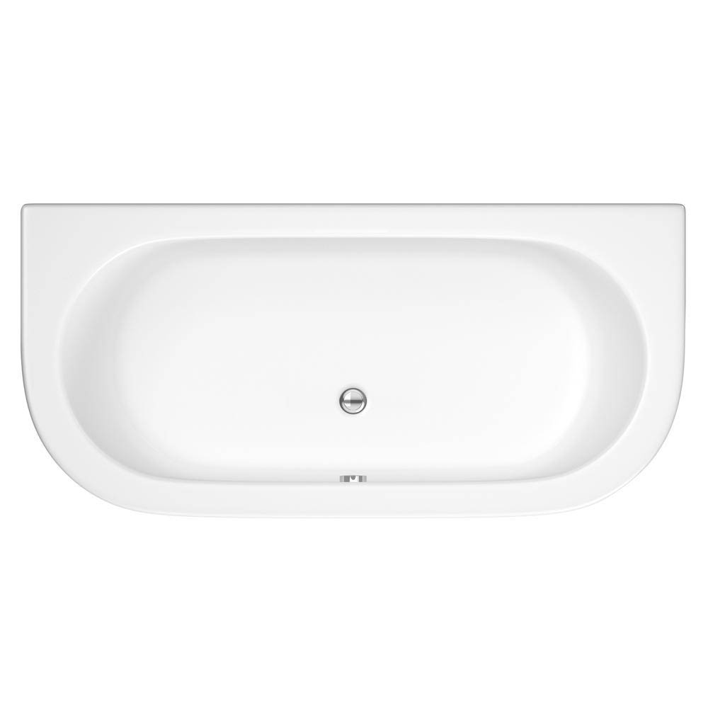 Costa Back To Wall Bath with Acrylic Front Panel + Legset (1700 x 800mm) profile large image view 2