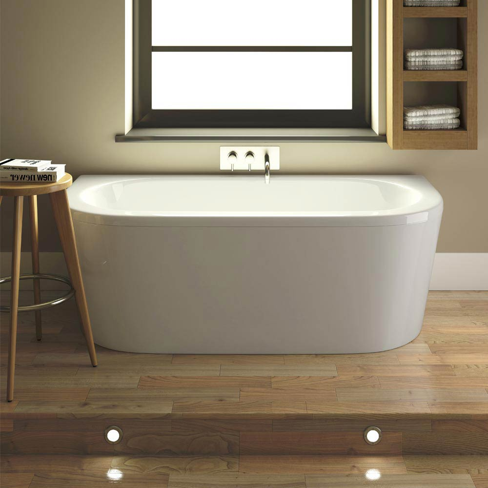 Costa Back To Wall Bath with Acrylic Front Panel + Legset (1700 x 800mm) profile large image view 1