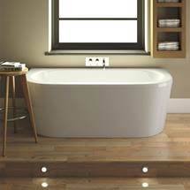 Costa Back To Wall Bath with Acrylic Front Panel + Legset (1700 x 800mm) Medium Image