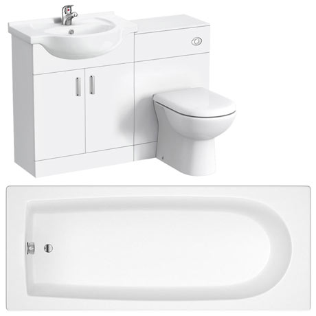 Cove 1150mm Vanity Unit Suite with Single Ended Bath