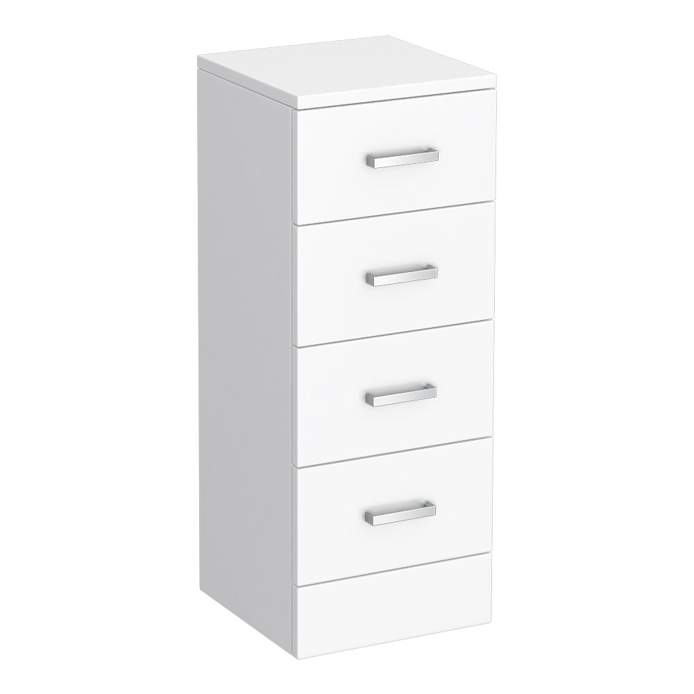 Cove 300x300mm White 4 Drawer Unit profile large image view 1