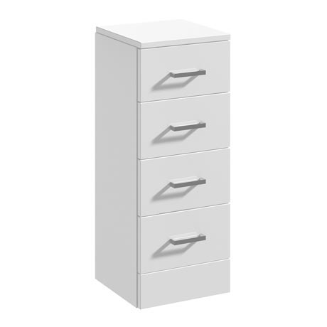 Cove 300x330mm White 4 Drawer Unit