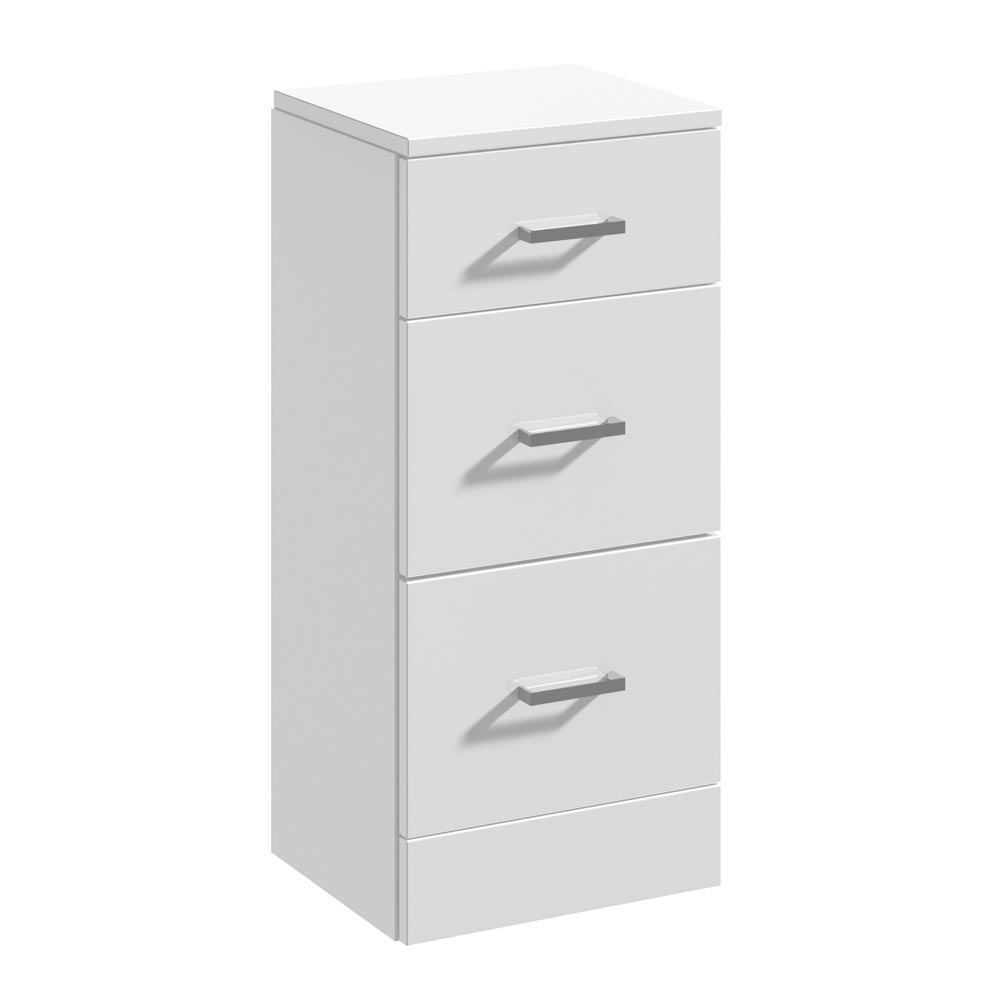 Cove 350x300mm White 3 Drawer Unit Large Image