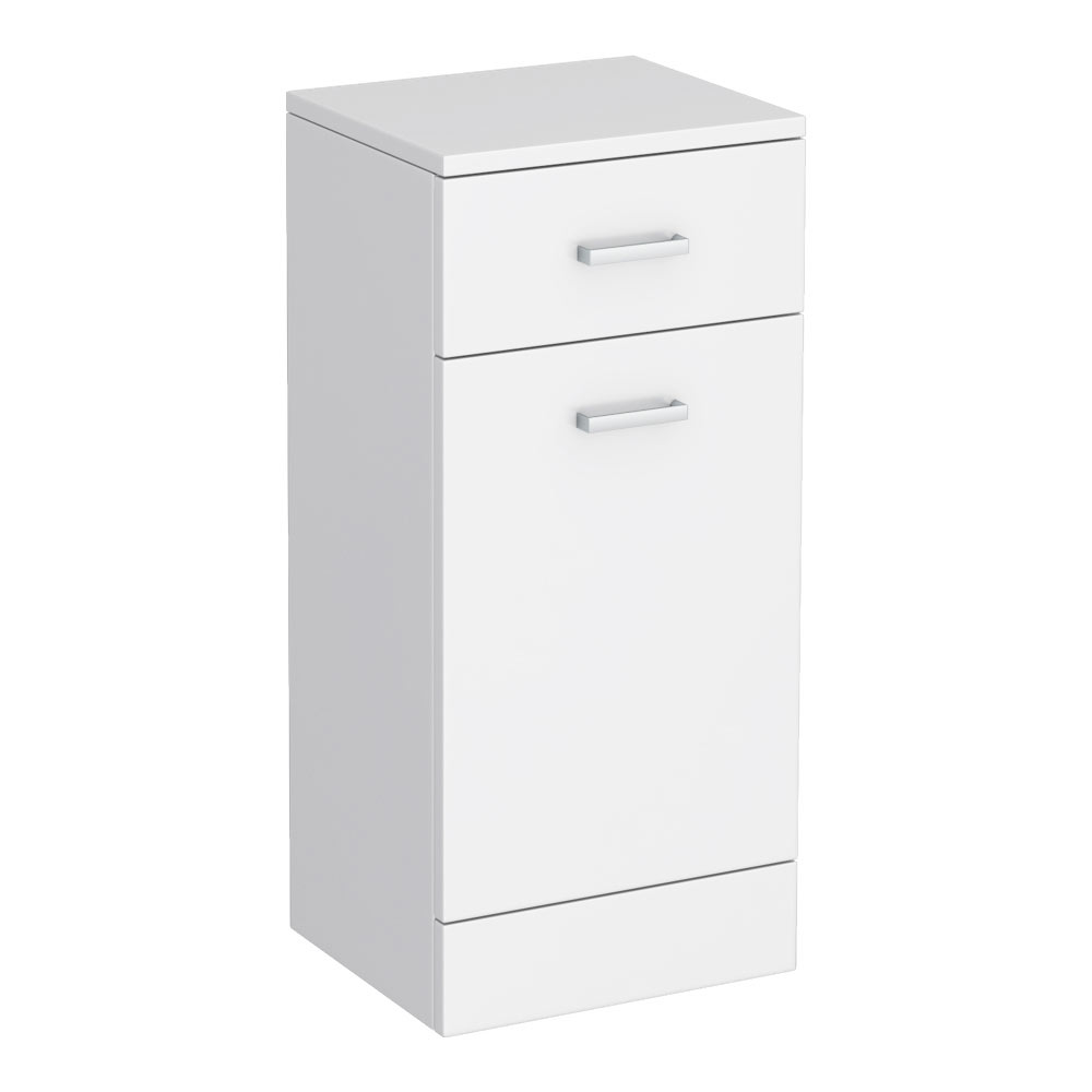 Cove 350x300mm White Laundry Basket profile large image view 3