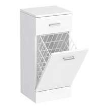 Cove 350x300mm White Laundry Basket Medium Image