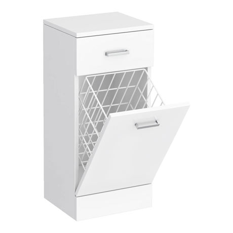 Cove 350x300mm White Laundry Basket