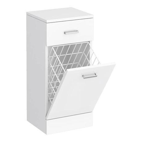 Cove 350x300mm White Laundry Basket