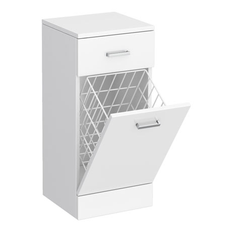 Cove 350x330mm White Laundry Basket
