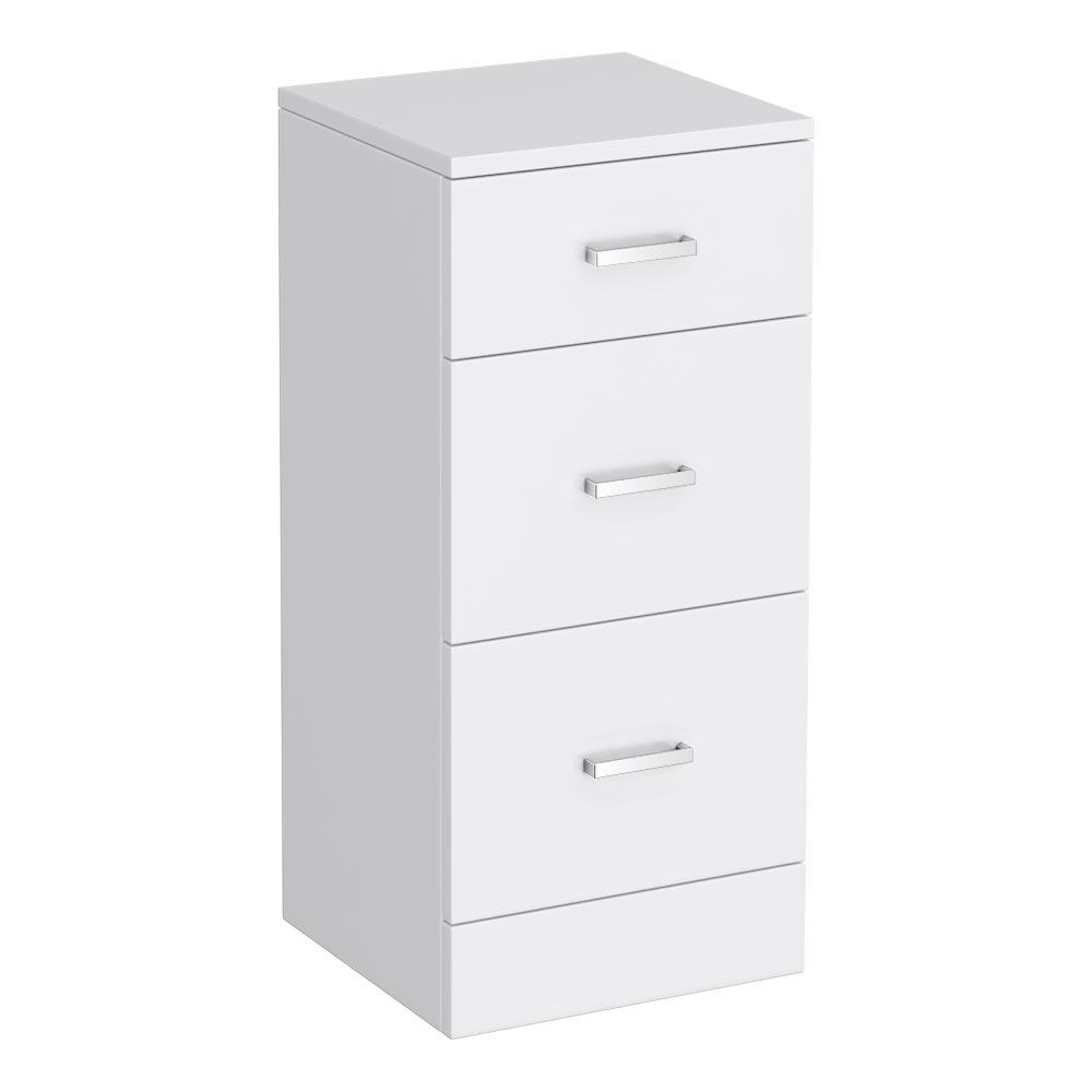 Cove 350x330mm White 3 Drawer Unit profile large image view 1