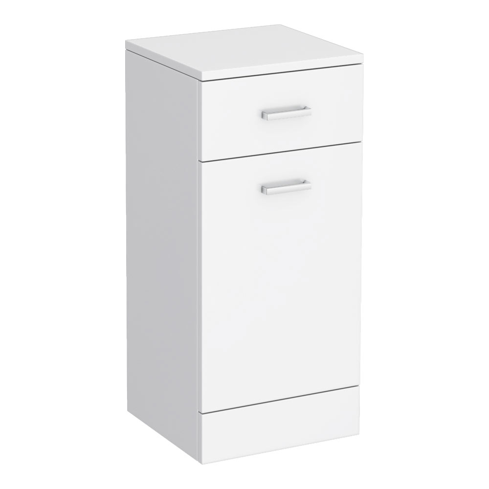 Cove 350x330mm White Laundry Basket profile large image view 3