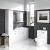 Cove 6 Piece Vanity Unit Bathroom Suite (High Gloss White - Depth 300mm) profile small image view 1