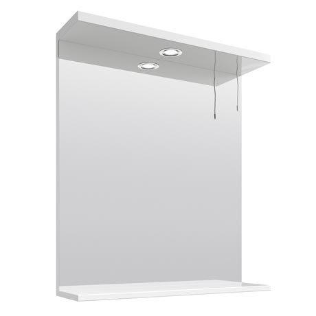 Cove White Illuminated Mirror (650mm Wide)