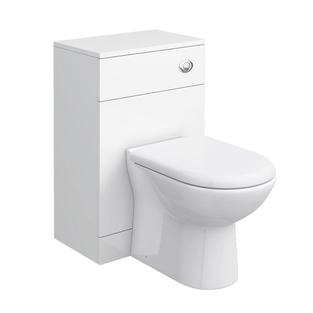 Cove Bathroom Furniture Pack 5 Piece: Cove BTW Toilet Unit Inc. Cistern + Soft Close Seat (Depth