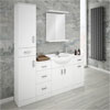 Cove Bathroom Furniture Pack (5 Piece - White Gloss) profile small image view 1