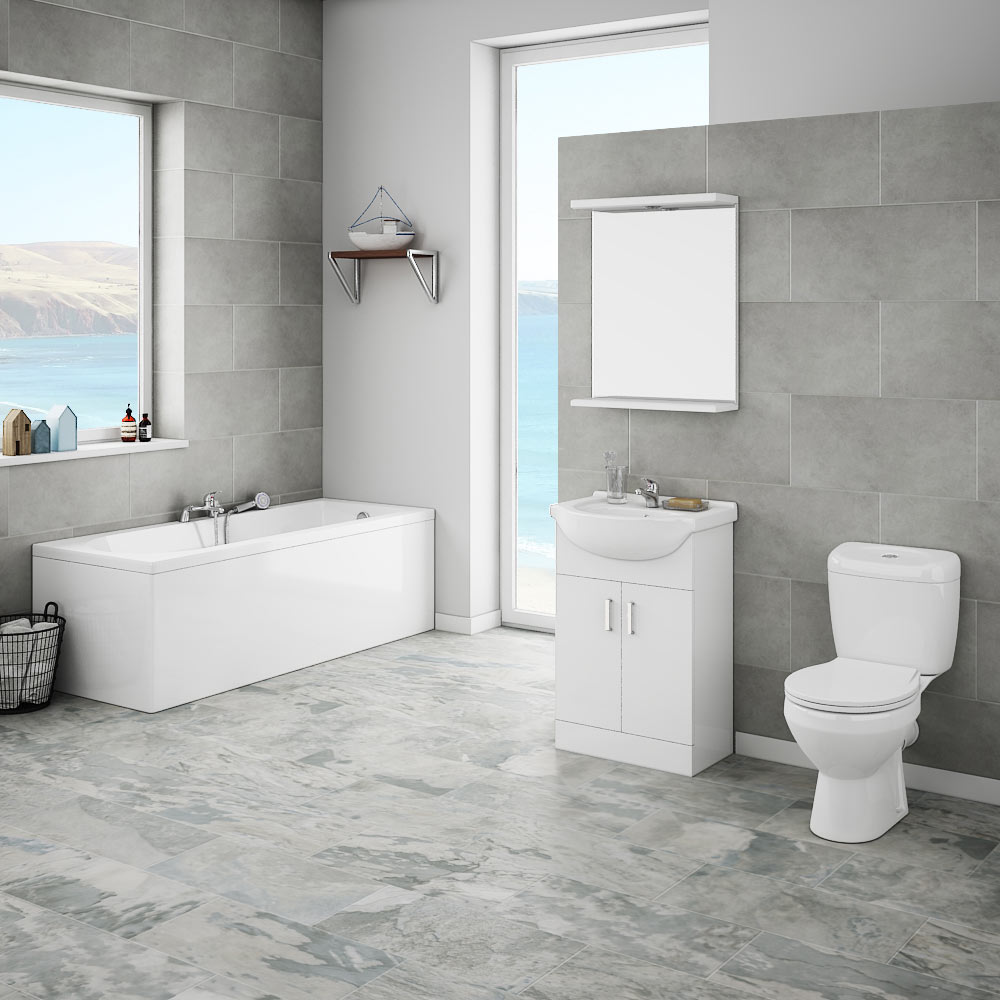 Cove complete bathroom suite victorian plumbing uk for Bathroom suites