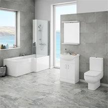 Cove Modern Shower Bath Suite Medium Image