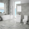 Cove P-Shaped Modern Shower Bath Suite profile small image view 1