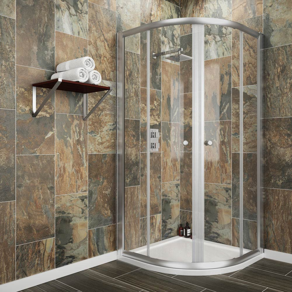 Cove Quadrant Shower Enclosure with Tray   Waste  2 Size Options  Medium  Image. Quadrant Shower Enclosure   Shower Enclosures   Victorian Plumbing