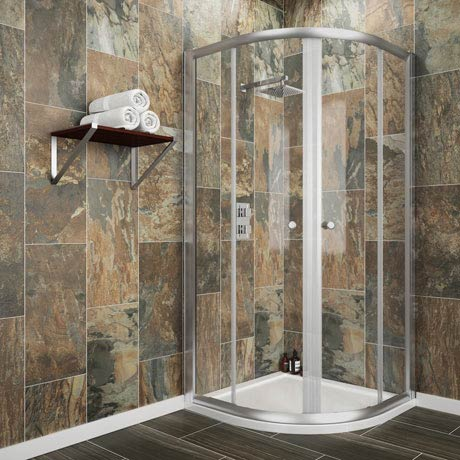 Cove Quadrant Shower Enclosure with Tray + Waste (2 Size Options)