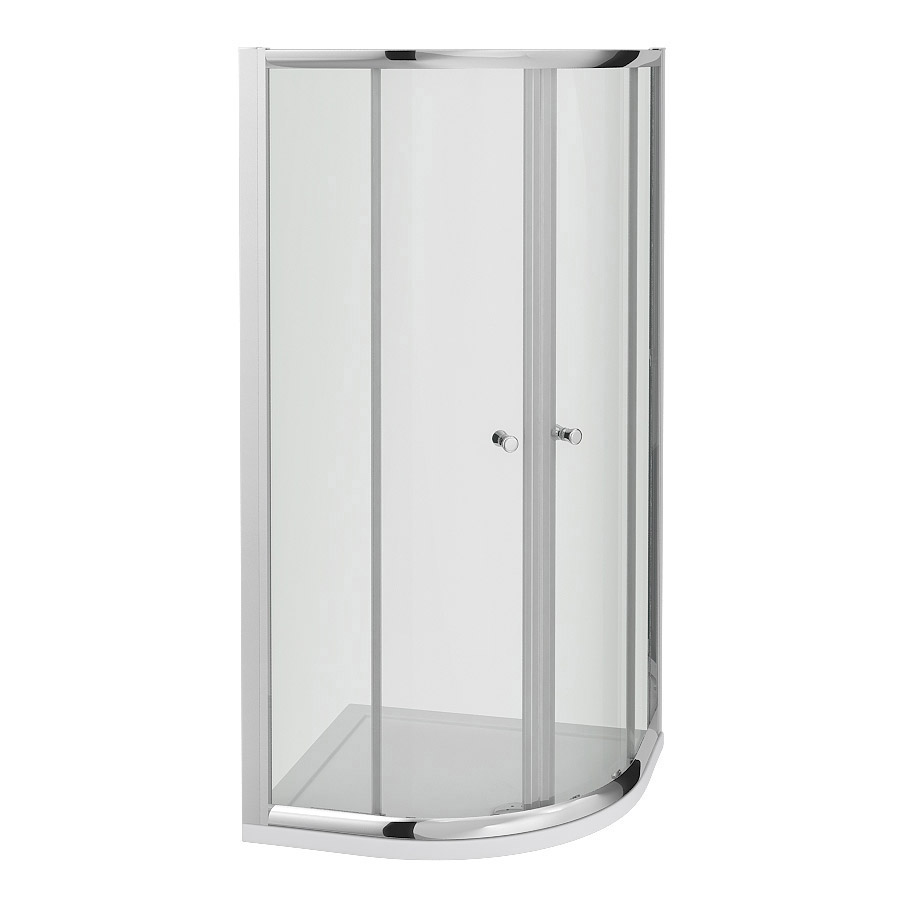 Cove Quadrant Shower Enclosure with Tray & Waste - 2 Size Options Profile Large Image