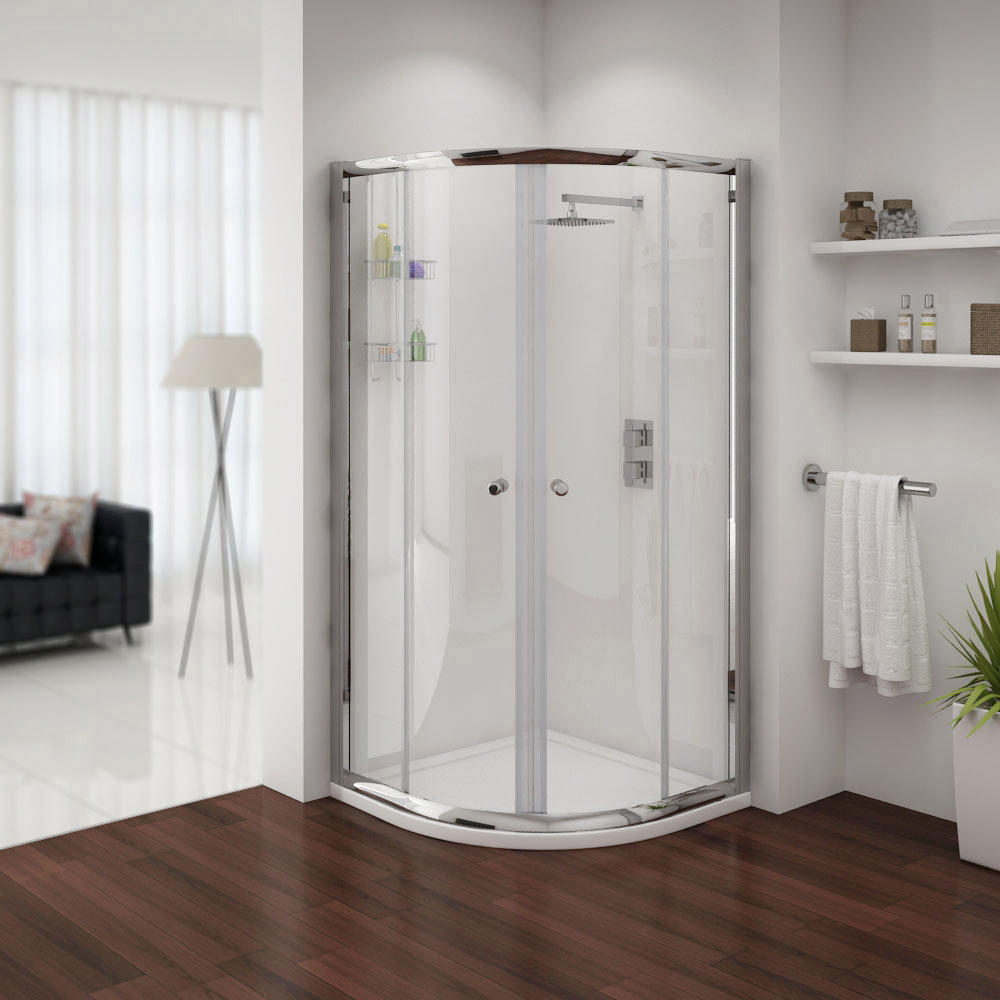 Cove Quadrant Shower Enclosure with Tray & Waste - 2 Size Options Large Image