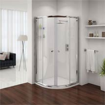 Cove Quadrant Shower Enclosure with Tray & Waste - 2 Size Options Medium Image