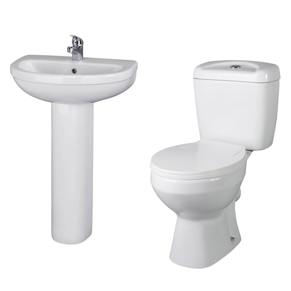 Cove En Suite Bathroom Suite inc Quadrant Enclosure Profile Large Image