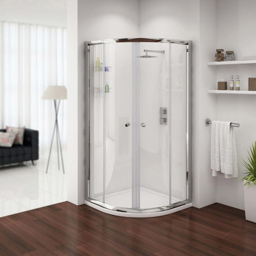 Cove En Suite Bathroom Suite inc Quadrant Enclosure Feature Large Image