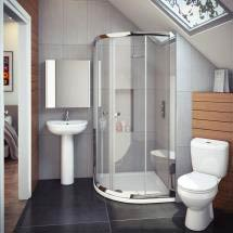 Cove En Suite Bathroom Suite inc Quadrant Enclosure Medium Image