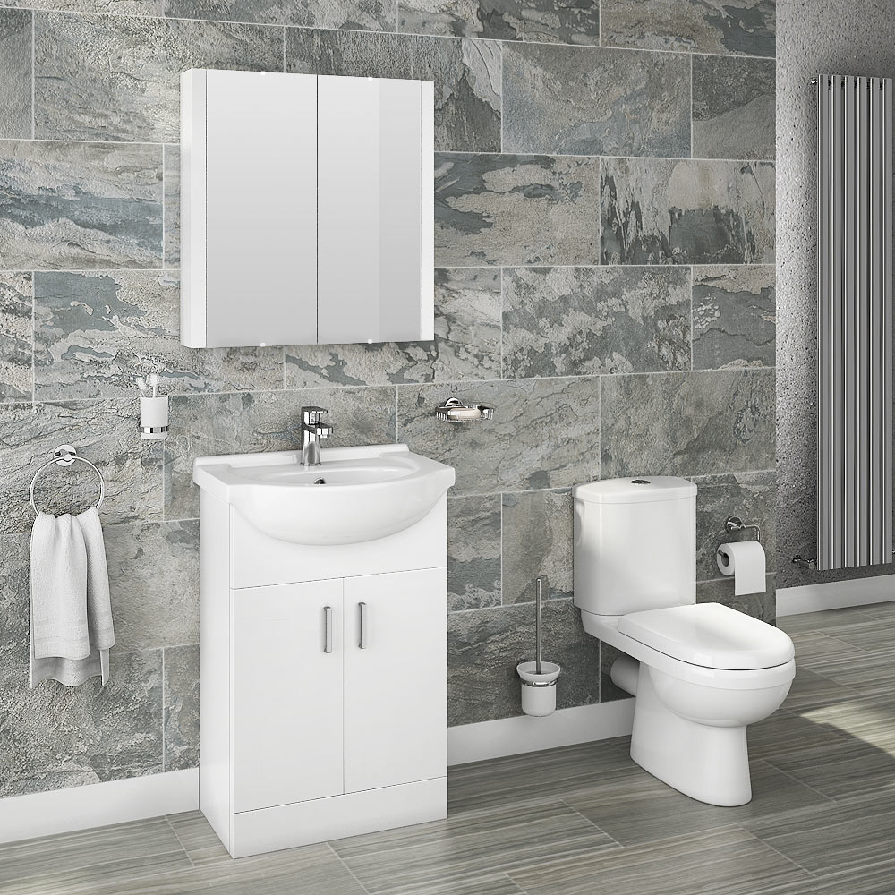 Cove 550 Vanity Unit Modern Close Coupled Toilet Victorian Plumbing Uk