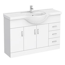 Cove White 1200mm Large Vanity Unit Medium Image