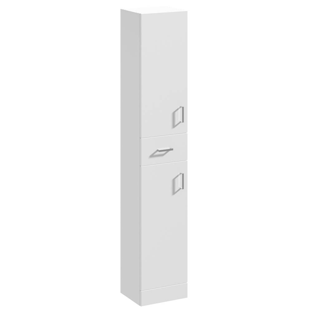 Cove White 350mm Gloss Tallboy Unit - Depth 330mm Large Image
