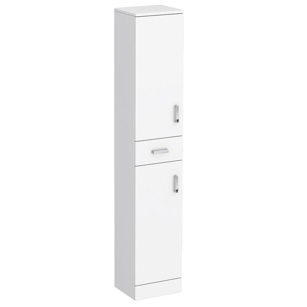 Cove White 350mm Gloss Tallboy Unit - Depth 300mm Large Image