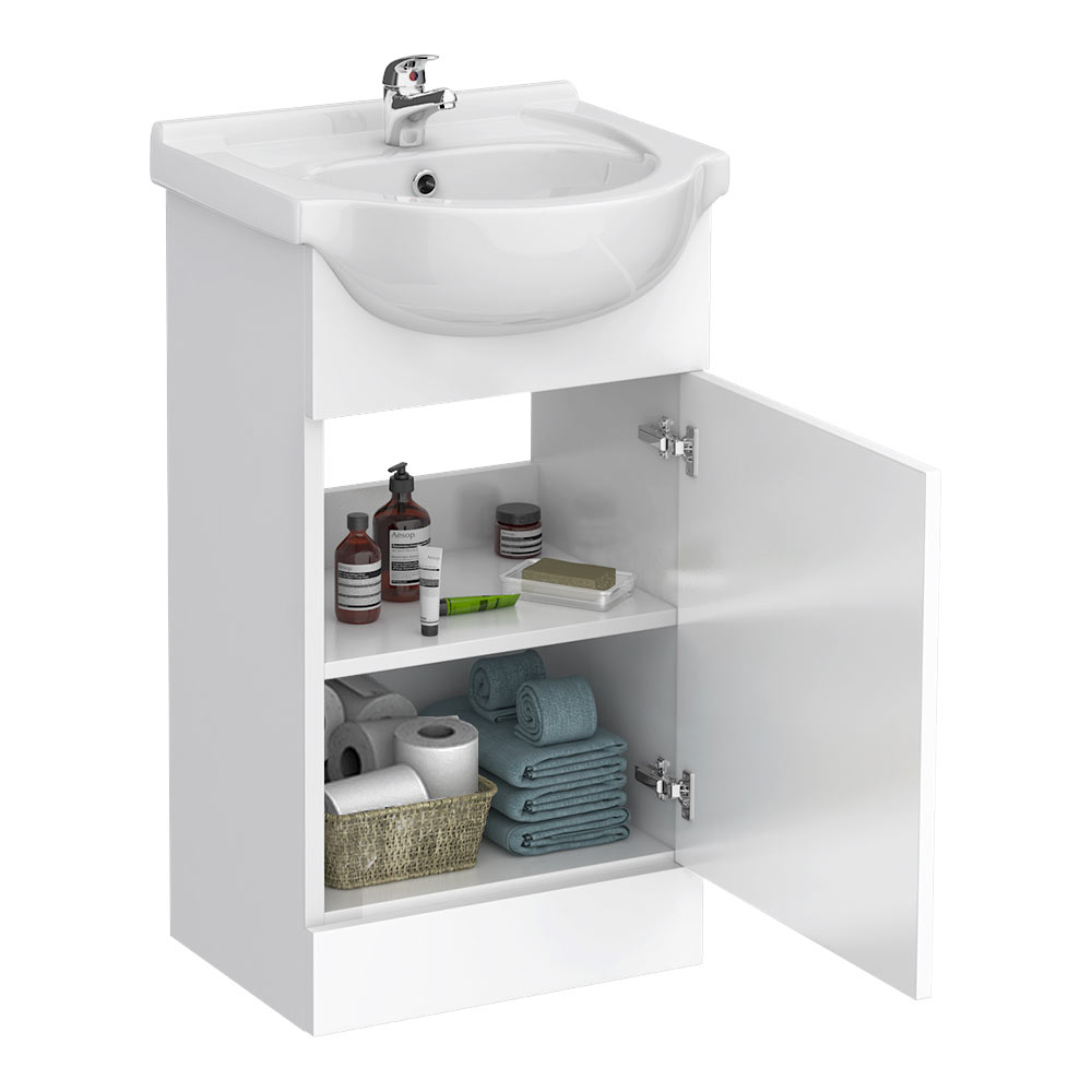 Cove White 450mm Small Vanity Unit profile large image view 2