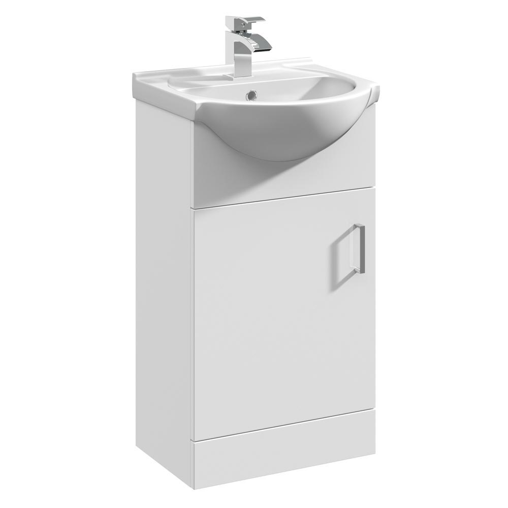Cove White 450mm Small Vanity Unit Large Image