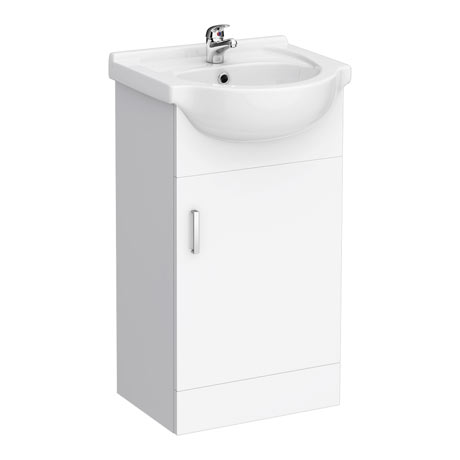 Cove White 450mm Small Vanity Unit