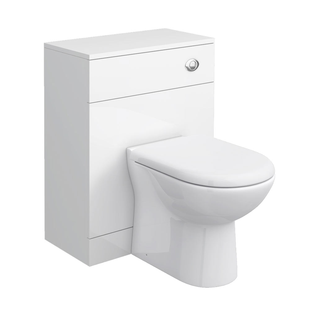 Cove White 600x300mm WC Unit profile large image view 1