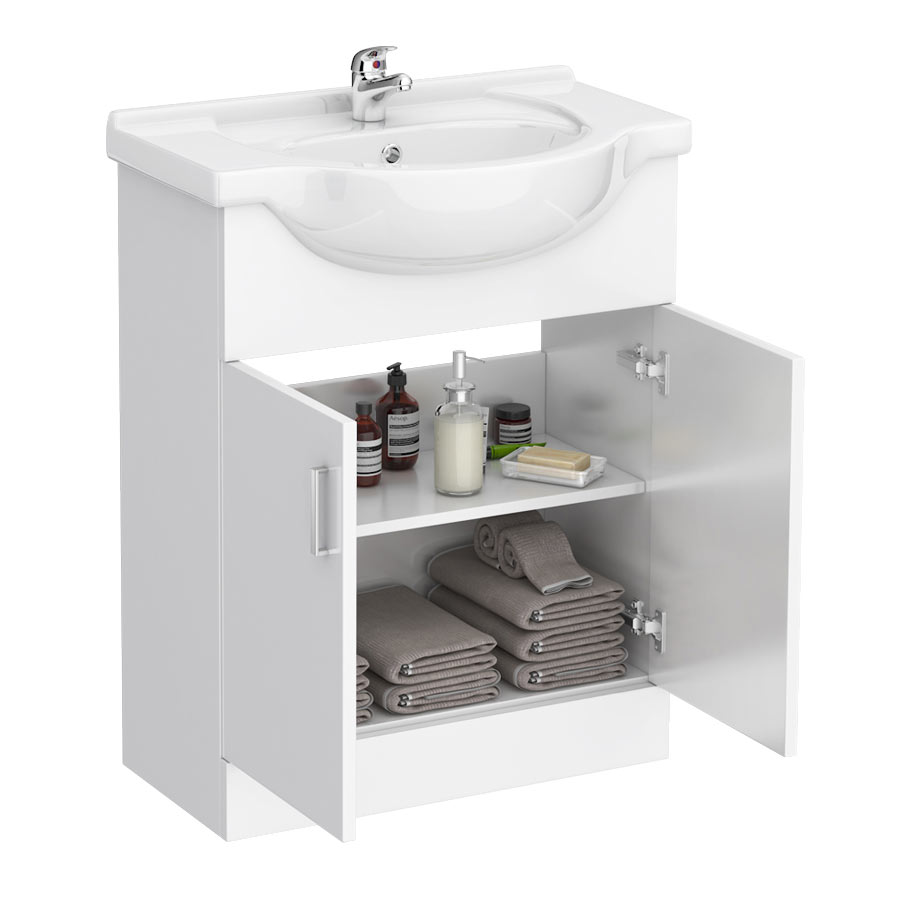 Cove White 650mm Vanity Unit profile large image view 4