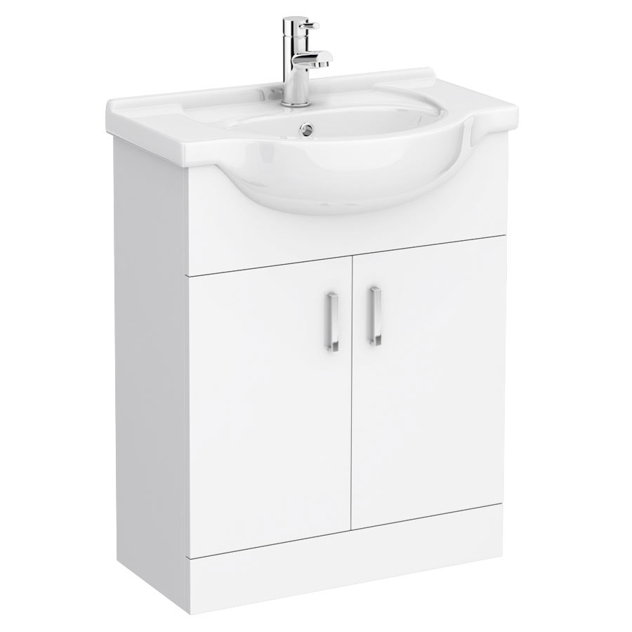 Cove White 650mm Vanity Unit Large Image