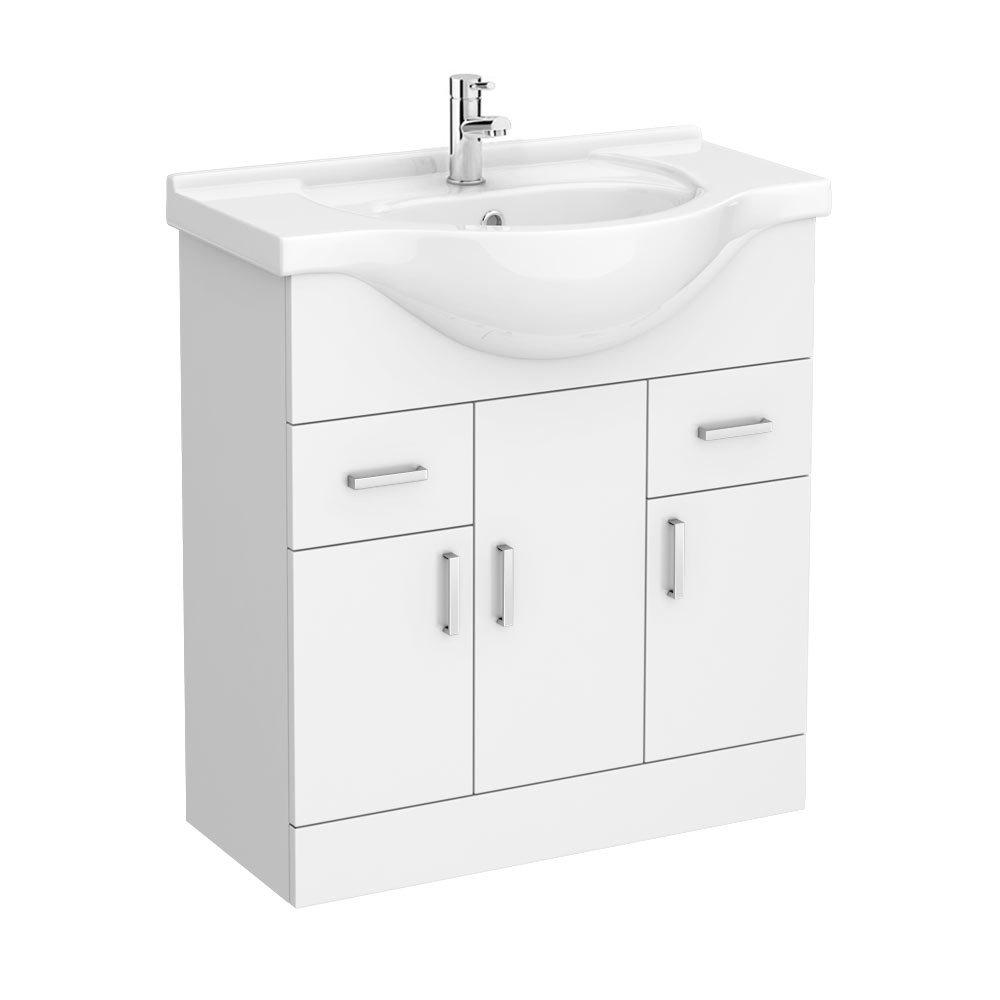 Cove White 750mm Vanity Unit Large Image