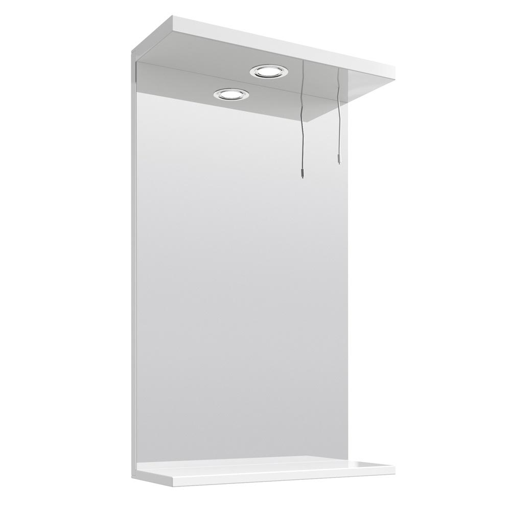 Cove White Illuminated Mirror (450mm Wide) Large Image