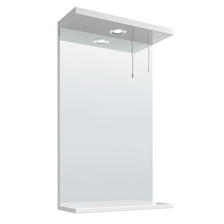Cove White Illuminated Mirror (450mm Wide)