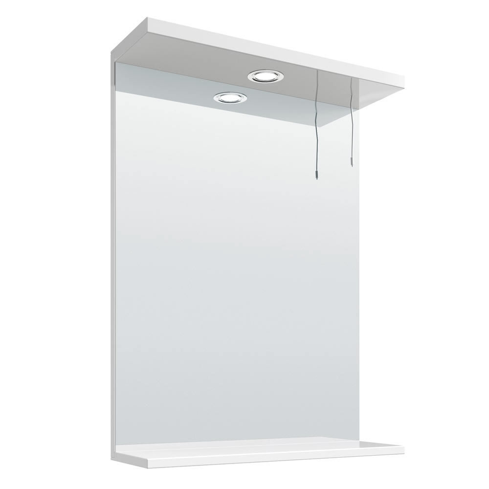 Cove White Illuminated Mirror (550mm Wide) Large Image