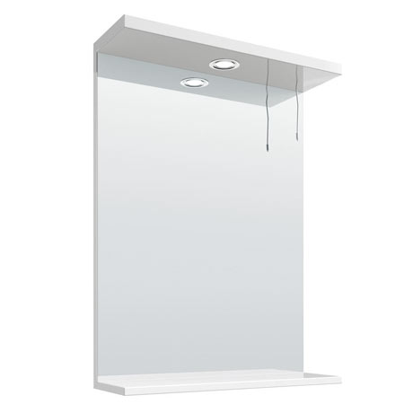 Cove White Illuminated Mirror (550mm Wide)
