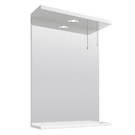 Cove White Illuminated Mirror (550mm Wide)