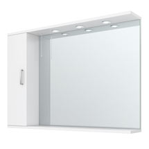 Cove White Illuminated Mirror Cabinet (1050mm Wide) Medium Image