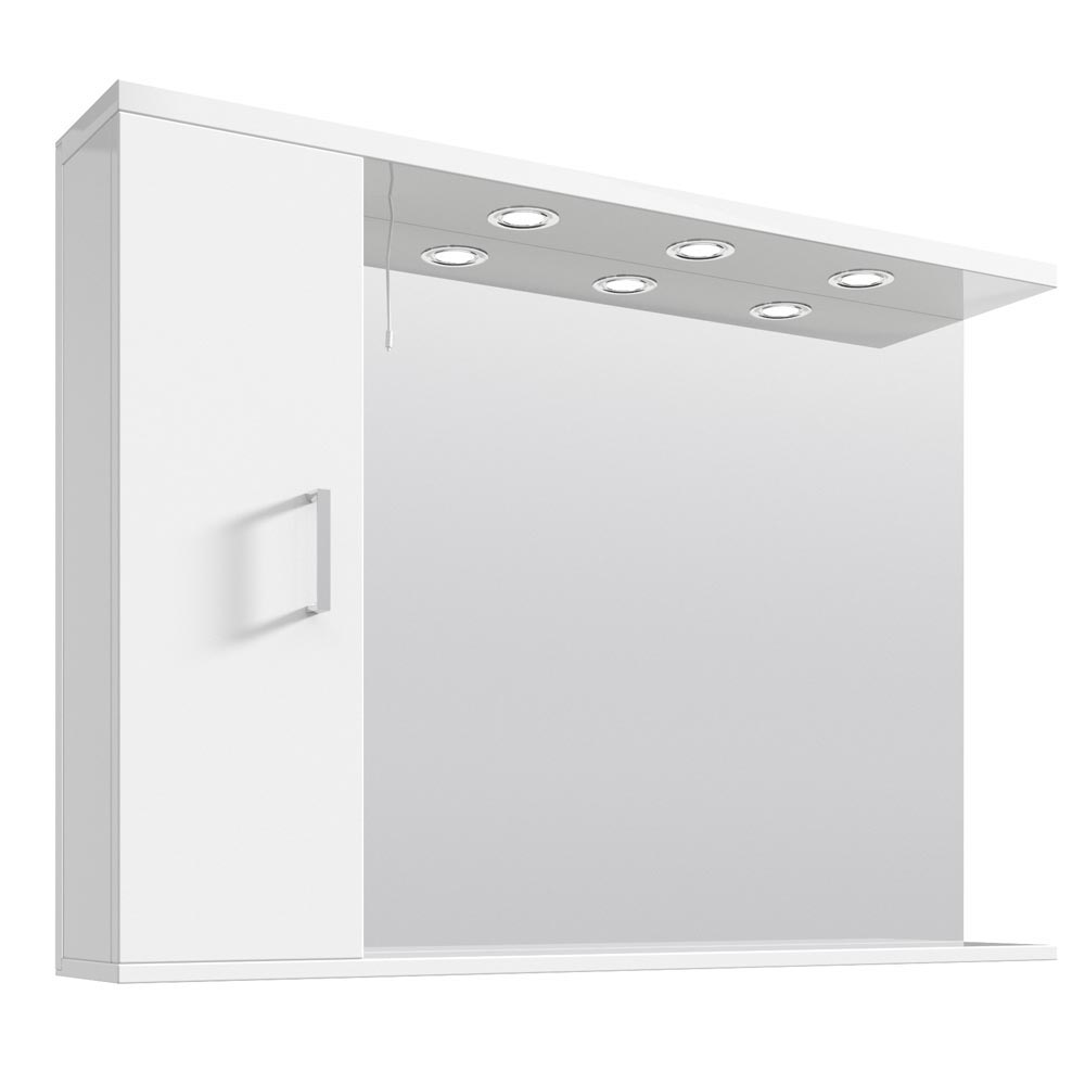 Cove White Illuminated Mirror Cabinet (1050mm Wide) Large Image
