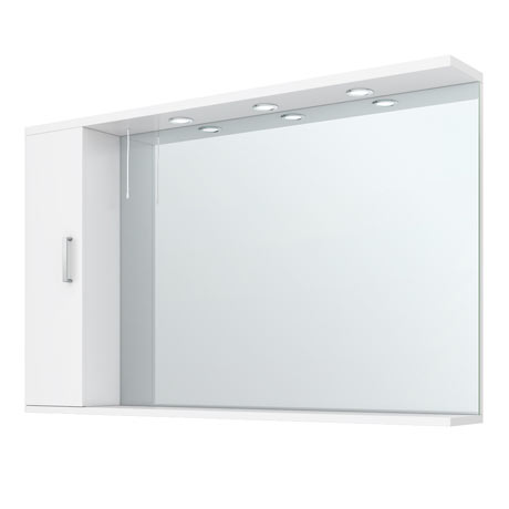 Cove White Large Illuminated Mirror Cabinet (1200mm Wide)